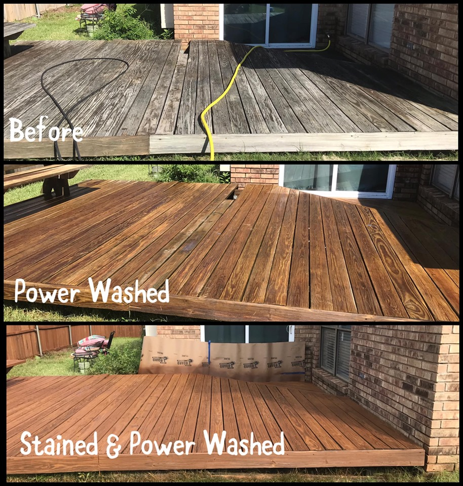 deck pressure/power washing