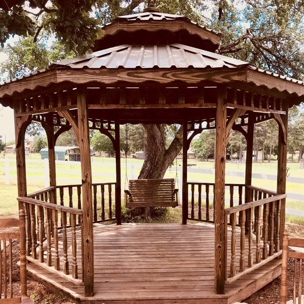 gazebo staining